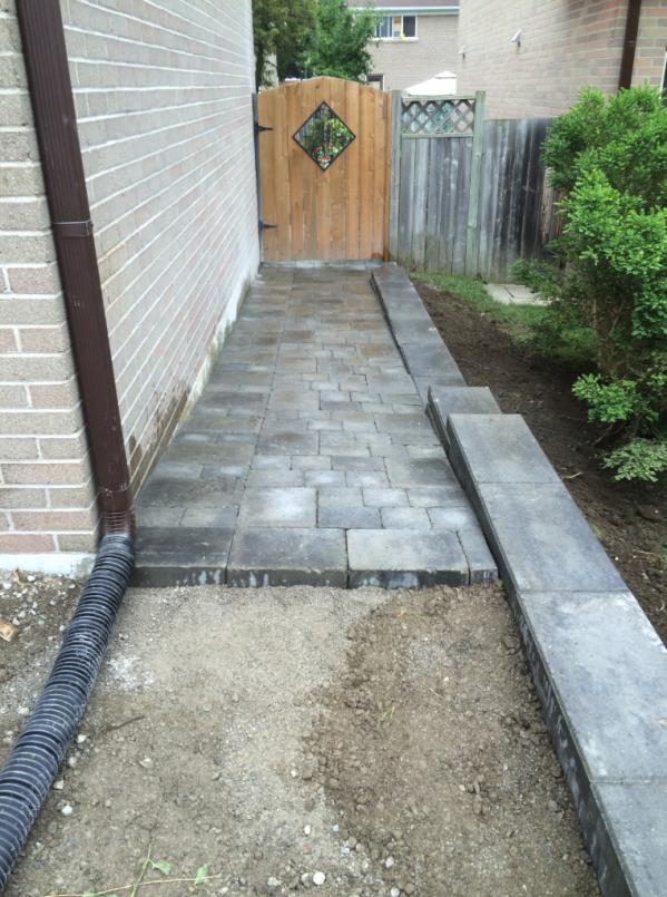 Side-house interlock walkway